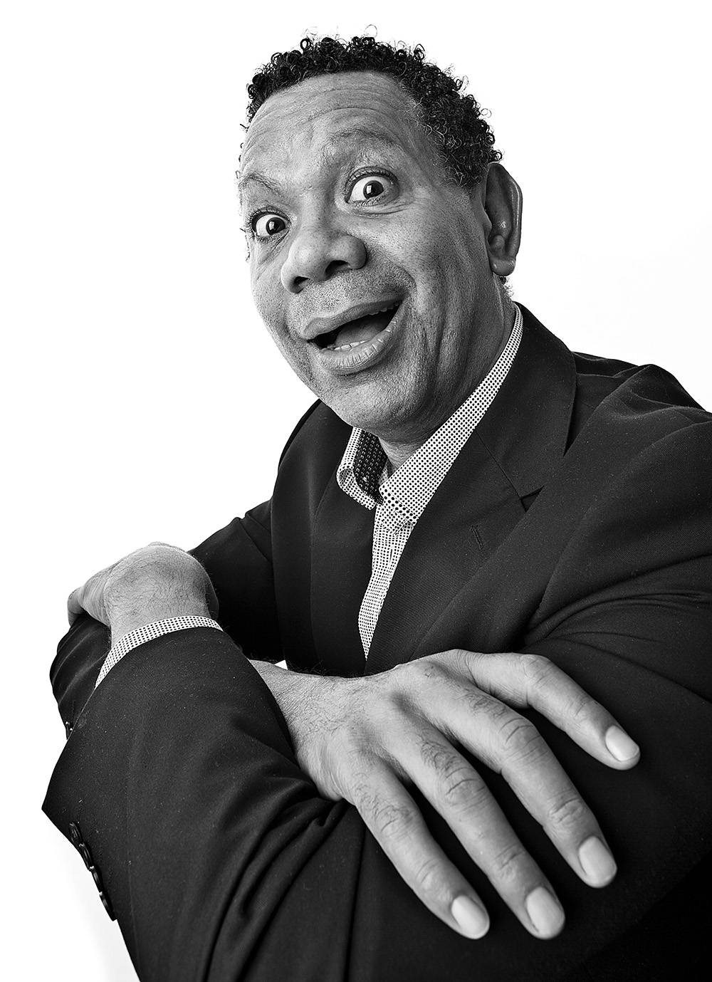Tony Black and White Portrait of Man with a surprised look © Paul Worpole Photography