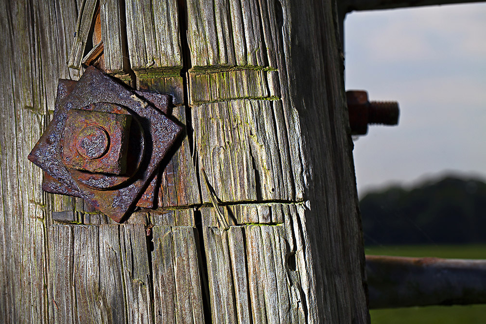 Rusty Hinge on a Farm Gate - Conceptual Photography - Cheshire © Paul Worpole Photography