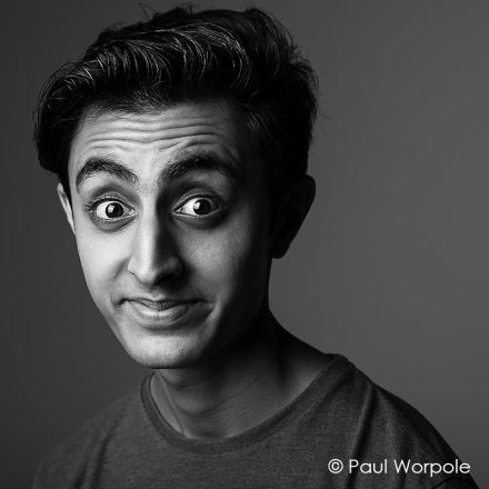 Actor Portrait London Lack & White Photograph of man Gurjeet Singh © Paul Worpole Photography