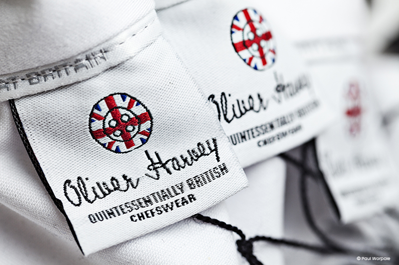 Close up shot of Oliver Harvey jacket label © Paul Worpole