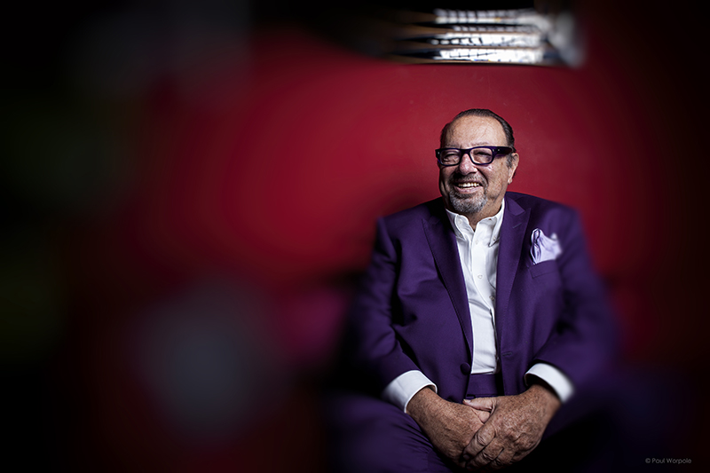 Corporate Headshot of a Man in Purple Suit and Glasses © Paul Worpole Photography
