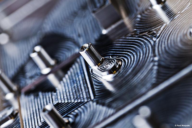 Technicians Make It Happen RAL Space Close Up Shot of Billet Alluminium © Paul Worpole Photography