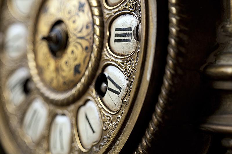 Brochure Photography Close up of Clock Face
