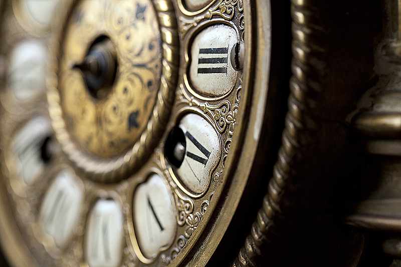 Brochure Photography Close up of Clock Face