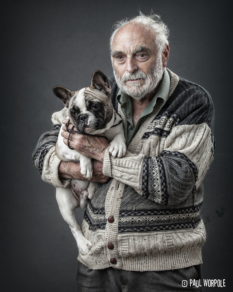 French Bulldog and his owner John © Paul Worpole Photography