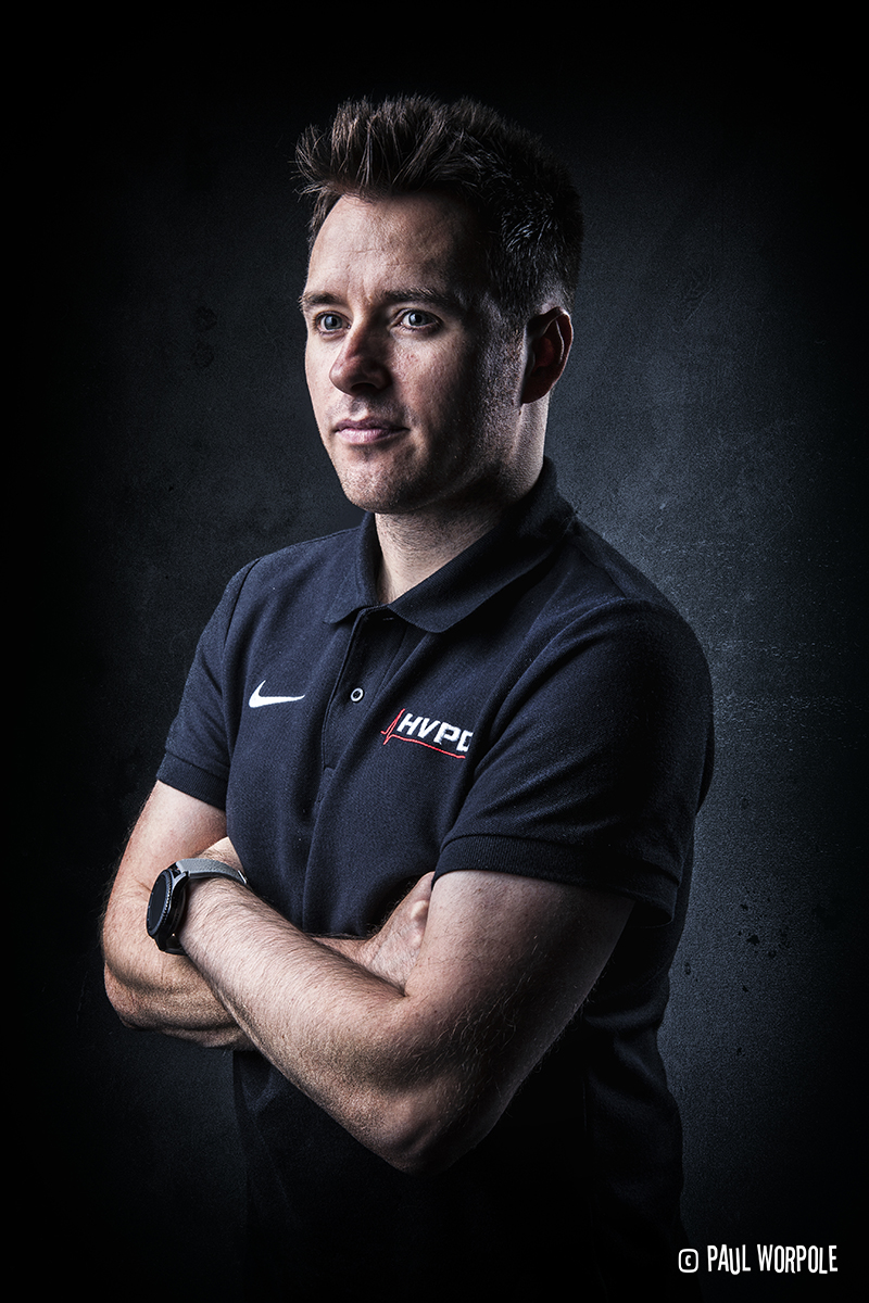 Commercial Portrait Manchester of Man on Black Polo Shirt © Paul Worpole Photography