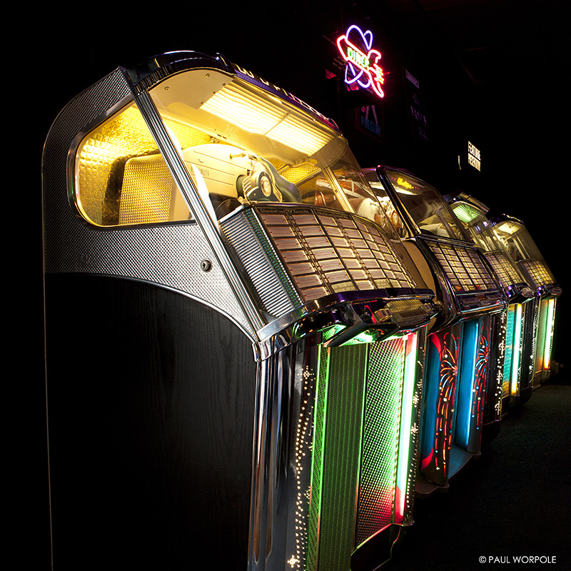 Wurlitzer Jukeboxes from fifties © Paul Worpole Photography