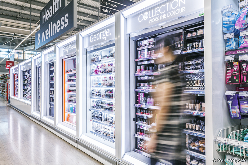 Fastrak Retail Solutions Display unit in Asda store © Paul Worpole Photography