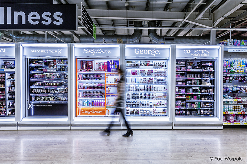 Fastrak Retail Solutions Showing Display Units in Asda Store © Paul Worpole Photography