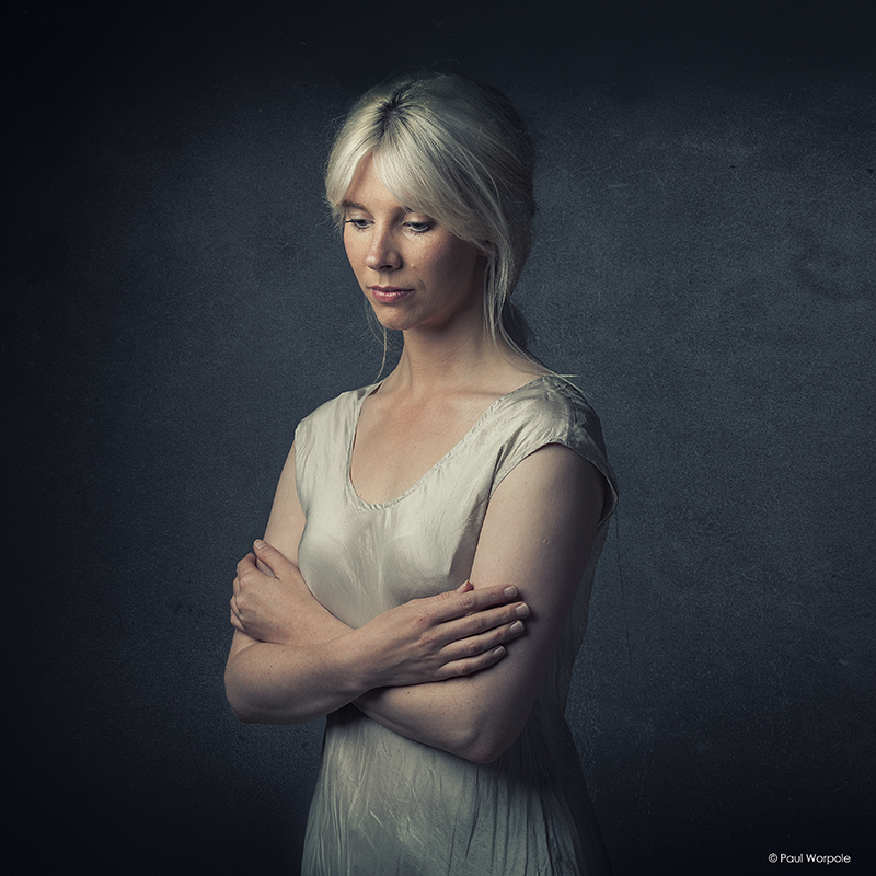 Actor Portfolio Photography - portrait headshot of woman with blonde hair tied up © Paul Worpole Photography