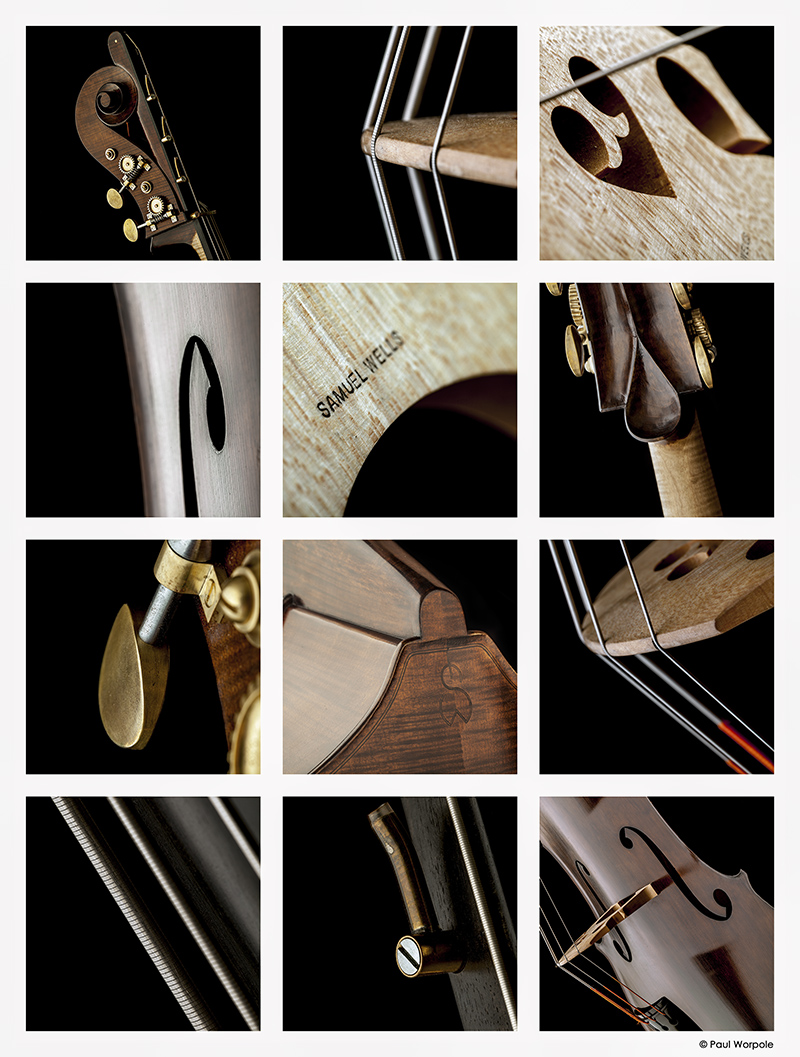 Close Up Product Photography Double Bass Montage © Paul Worpole Photography