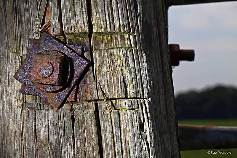 Close Up Product Photography Rusty Farm Gate Hinge © Paul Worpole Photography