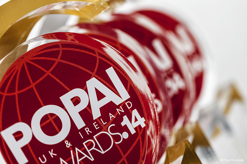 Close Up Product Photography of Popaii Awards © Paul Worpole Photography
