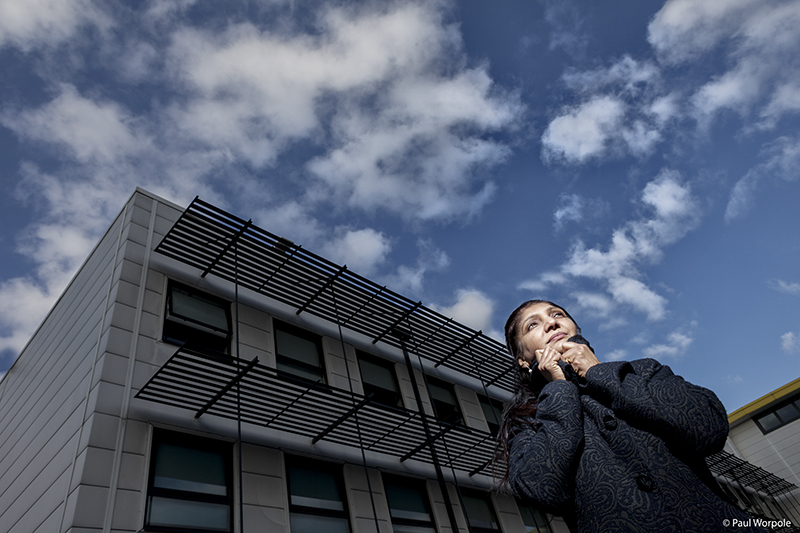 Editorial Photography Portrait of Woman Scientist outside University © Paul Worpole Photography