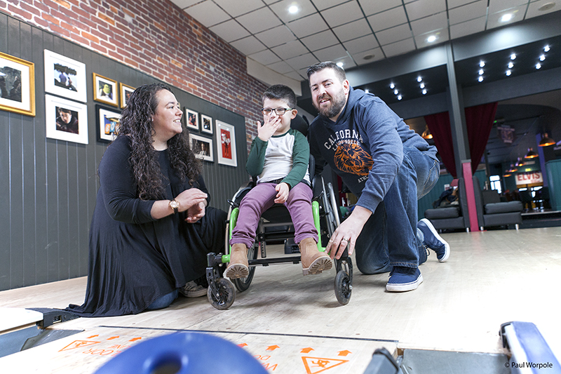 Editorial Photography of Boy in Wheelchair at Bowling alley © Paul Worpole Photography
