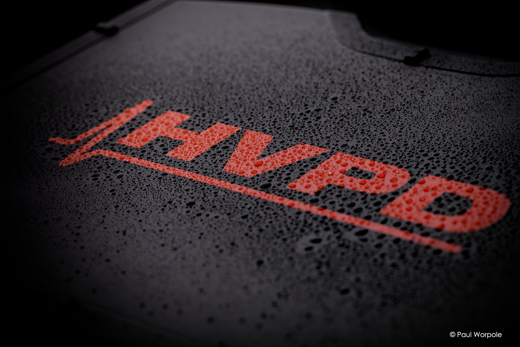 Product photography for HVPD black protective case with water droplets © Paul Worpole Photography