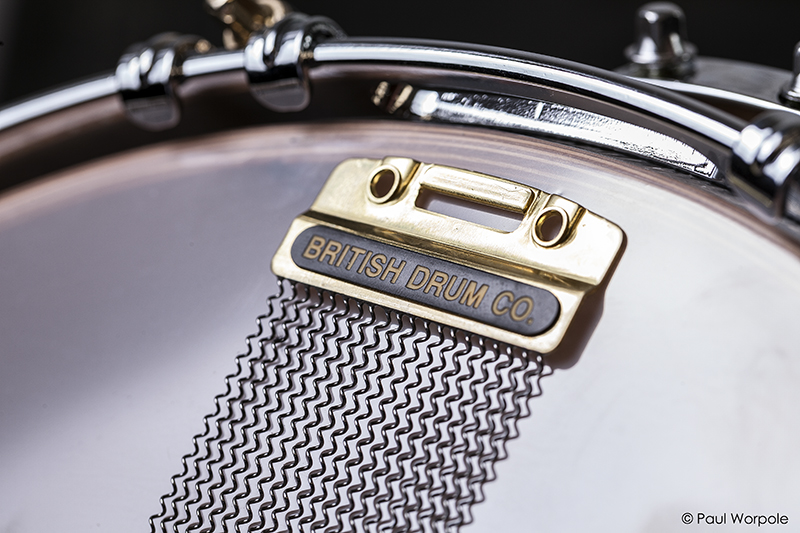 Close Up Detail of Snare Wire British Drum Co © Paul Worpole Photography