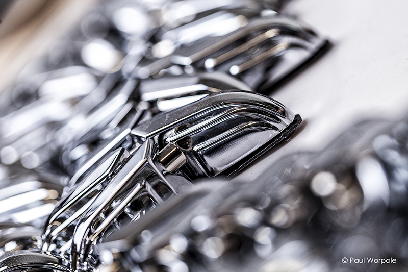 Close up shot of Chrome Lugs British Drum Co © Paul Worpole Photography