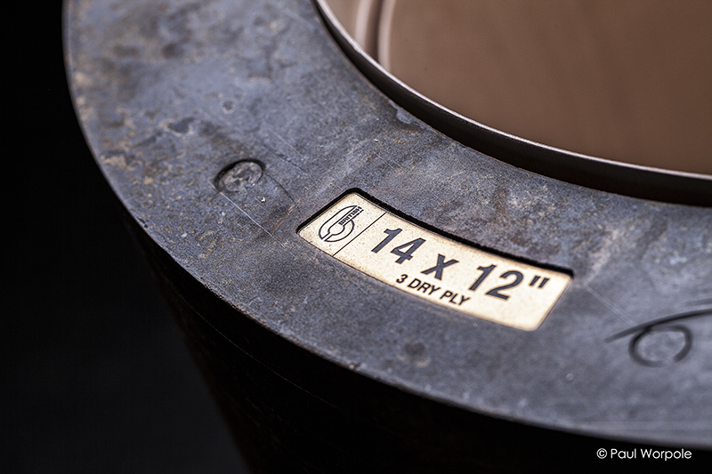 Close up shot of Cold Compress Drum Mold at British Drum Co © Paul Worpole Photography