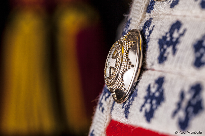 Military Tunic Silver Button Detail at British Drum Co © Paul Worpole Photography