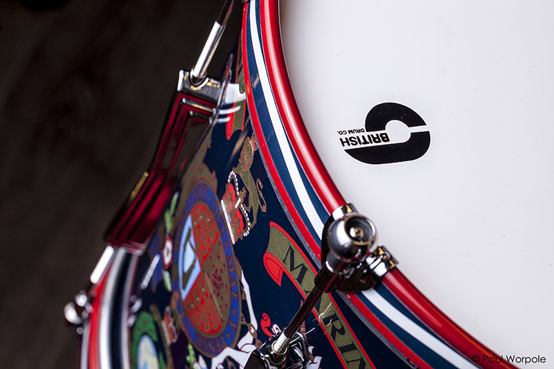 Royal Marines Close up Detail of Drum Shell at British Drum Co © Paul Worpole Photography