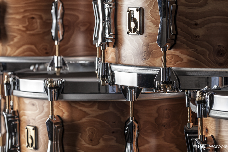 Stacked Snare Drums British Drum Co © Paul Worpole Photography