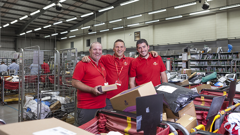 10 Essential photographs that every company should have in their portfolio. Portrait of three staff at Royal Mail © Paul Worpole Photography