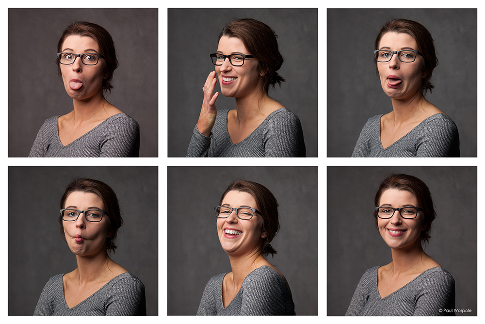 Outtake of Six Staff Headshots of Woman in Glasses © Paul Worpole Photography
